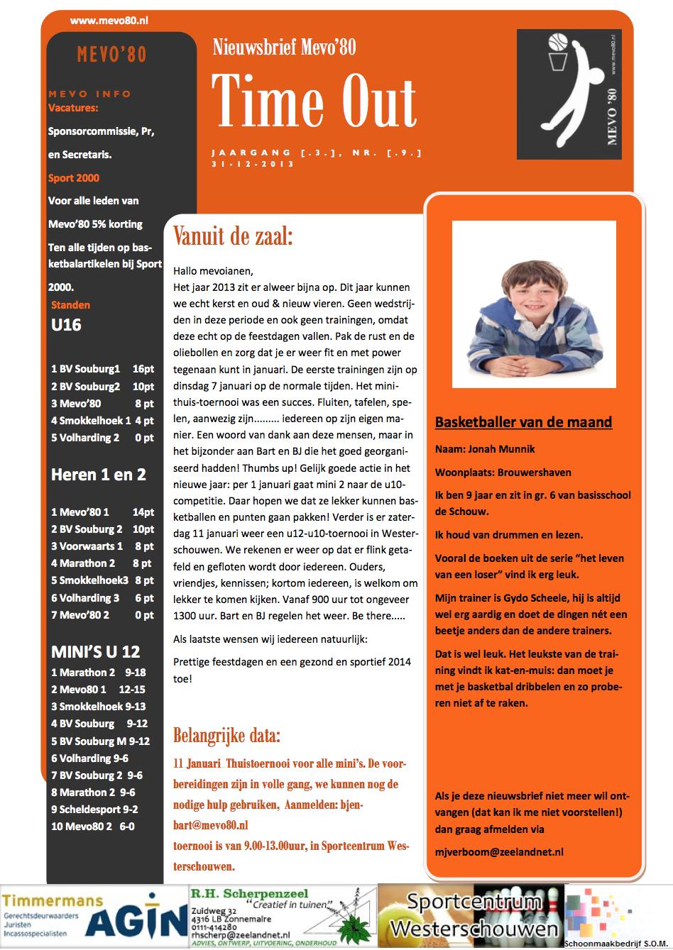 Nieuwsbrief Mevo'80 #9 2014